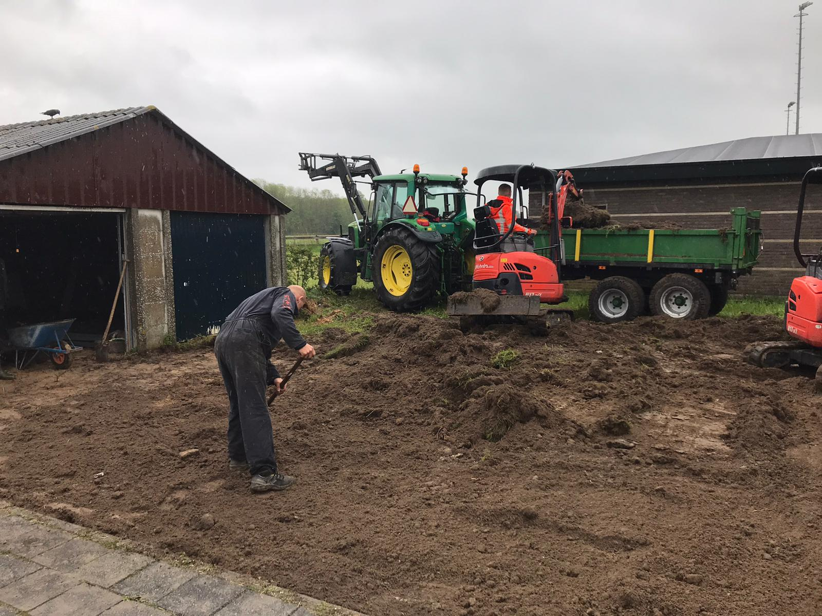 Start aanleg extra terras